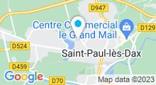 Plan Carte Centre de remise en forme Sourcéo à Saint-Paul-Lès-Dax