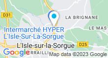 Plan Carte BullAquatic à L'Isle sur la Sorgue