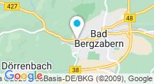 Plan Carte Südpfalz Therme à Bad Bergzabern