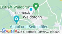 Plan Carte Albtherme à Waldbronn