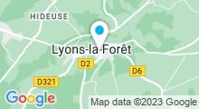 Plan Carte Spa Nuxe à Lyons-la-Forêt
