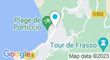 Plan Carte L'institut Acqua Doria à Porticcio