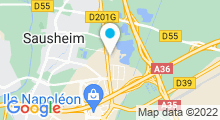 Plan Carte Gymnase Fitness Club de Sausheim