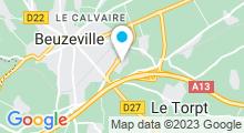 Plan Carte Spa du Best Hôtel à Beuzeville