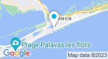 Plan Carte Première ligne Espace forme à La Grande Motte