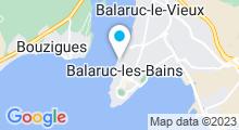 Plan Carte O'Balia centre de bien-être à Balaruc Les Bains