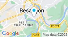 Plan Carte Le Temple du Bien-Être à Besançon