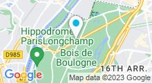 Plan Carte Centre Waterbike Trocadero à Paris (16ème)