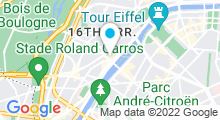 Plan Carte Spa Nuxe de l'Hôtel Square***** à Paris (16ème)