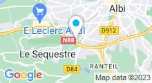 Plan Carte Centre Movida à Albi