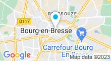 Plan Carte Centre d'aquabike Aquavelo à Bourg-en-Bresse