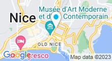 Plan Carte Centre d'aquabike Aquavelo à Nice
