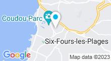 Plan Carte Centre d'aquabike Aquavelo à Six-Fours-Les-Plages