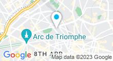 Plan Carte Institut Cellulite Aquagym (ICA) à Paris