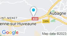 Plan Carte Aquagym, fitness, piscine & Salle de sport - Le Palestre à Aubagne