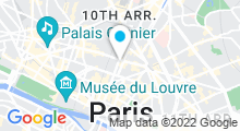 Plan Carte Centre d'aquabike Aqua By à Paris