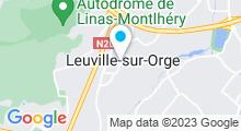 Plan Carte Centre Lux'O Bike à Leuville-sur-Orge