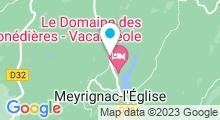 Plan Carte L'Institut du Domaine des Monédières**** à Meyrignac-l'Eglise