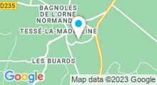 Plan Carte Thermes BO Resort à Bagnoles-de-l'Orne