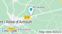 Plan Carte Gym&Eau à Pont-l'Abbé-d'Arnoult