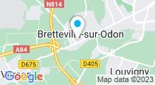 Plan Carte La Vie en Beauté à Bretteville-sur-Odon
