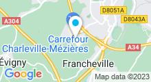 Plan Carte Spa urbain Passage Bleu à La Francheville