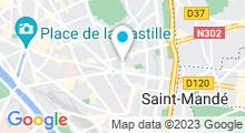 Plan Carte Centre Waterbike Charonne à Paris (11ème)