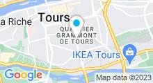 Plan Carte Centre Waterbike à Tours