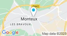 Plan Carte SpaSauna 84 à Monteux