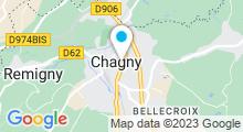 Plan Carte Institut de beauté Opaline à Chagny