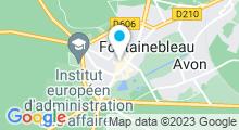 Plan Carte L'Institut à Fontainebleau