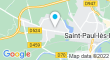 Plan Carte Océania Club à Saint-Paul-Lès-Dax