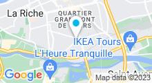 Plan Carte Les Océades à Tours