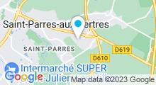 Plan Carte Spa urbain Passage Bleu à Saint-Parres-aux-Tertres