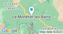 Plan Carte Spa Montagne à Monetier les Bains