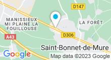 Plan Carte Spa urbain Passage Bleu à Saint-Bonnet-de-Mure