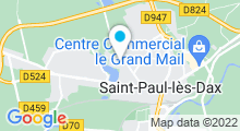 Plan Carte Thermes de Christus à Saint-Paul-Lès-Dax