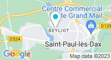Plan Carte Thermes des Chênes à Saint-Paul-Lès-Dax