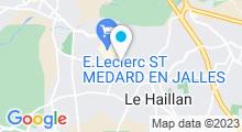 Plan Carte Aqualigne à St Médard en Jalles