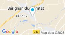 Plan Carte Institut Mareva Beauté à Sérignan-du-Comtat