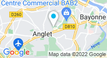 Plan Carte Institut Beauté Bask à Anglet