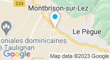 Plan Carte Spa du Mas de la Roche à Montbrison-sur-Lez
