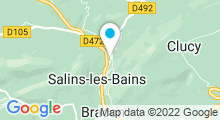 Plan Carte Thermes à Salins-les-Bains