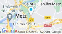 Plan Carte Centre de bien-être Elfides à Metz