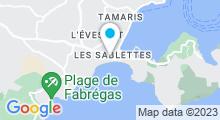Plan Carte Spa Nuxe de l'Hôtel des Sablettes-Plage*** à La Seyne-Sur-Mer