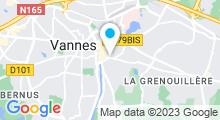 Plan Carte La Maison de la Garenne à Vannes