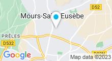 Plan Carte Natur'Aquatique à Mours-Saint-Eusèbe