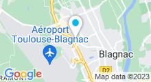 Plan Carte Coach'In 31 (Hôtel Appart'City) à Blagnac