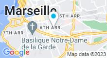 Plan Carte Hammam traditionnel Les Bains des Suds à Marseille (6ème)