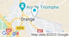 Plan Carte COAAV Aquagym Orange Vaucluse à Orange